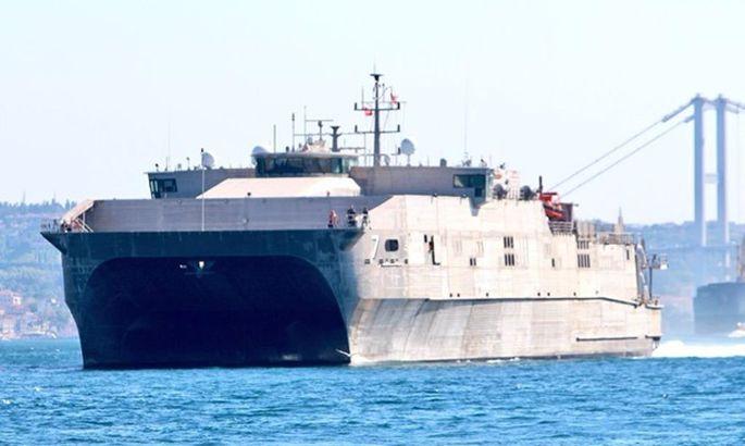 Быстроходный десантный корабль США вошел вЧерное море