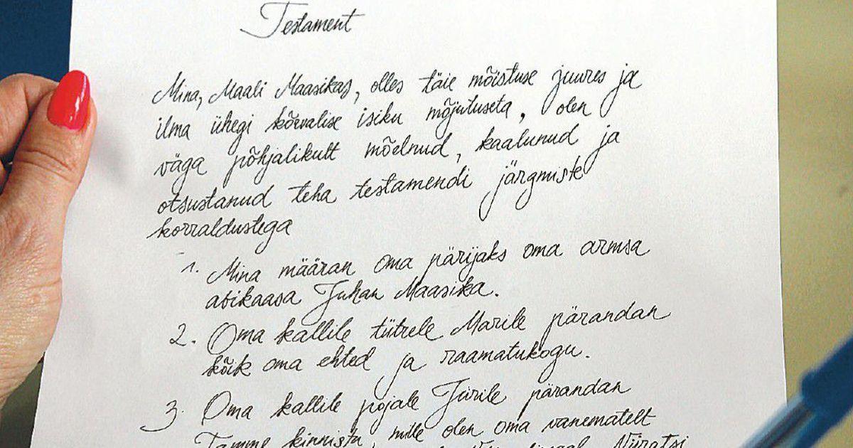 Написать завещание дома можно самостоятельно Газета rus  Написать завещание дома можно самостоятельно Газета rus postimees ee