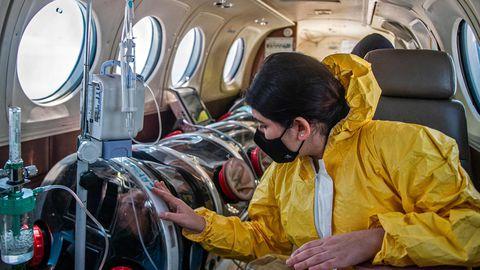 Peruus on sisse seatud õhukiirabi, mis aitab transportida raskes seisus patsiente ravile.