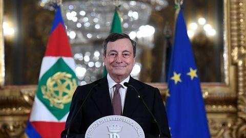 Mario Draghi annab Itaalia peaministrina ametivande