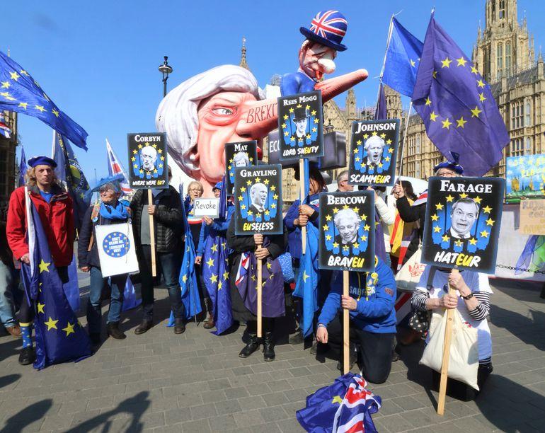 fba58a53437 Brexiti-vastased meeleavaldajad eile Londonis. photograph. Brexiti-blogi:  Briti ...
