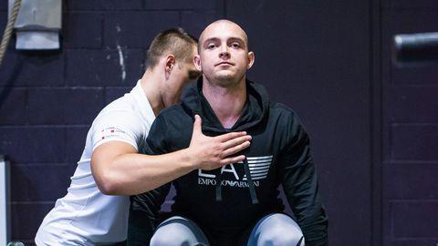 Pildil personaaltreener Jevgeni Kuzmin kliendiga
