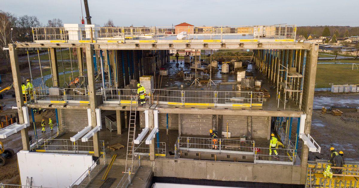 Kerkib: vaata, kuidas on edenenud Türi põhikooli ehitus