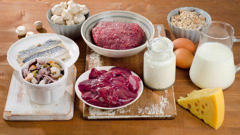 Inimorganismile hästi kättesaadavat vitamiini B12 leidub üksnes loomse päritoluga toiduainetes.