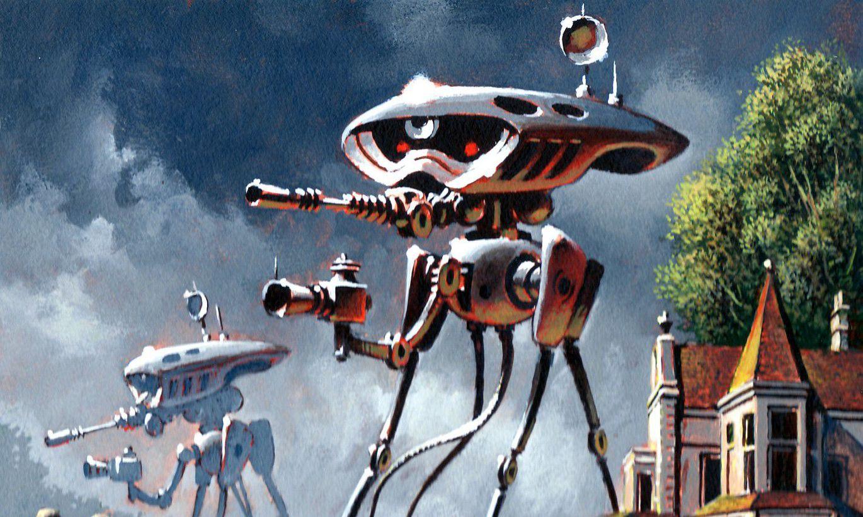 инопланетные роботы картинки голубоватая туманность фоне