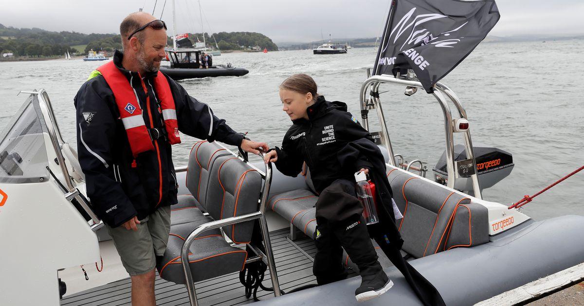 Fotod: kliimaaktivist Greta Thunberg alustas Inglismaalt merereisi USA-sse