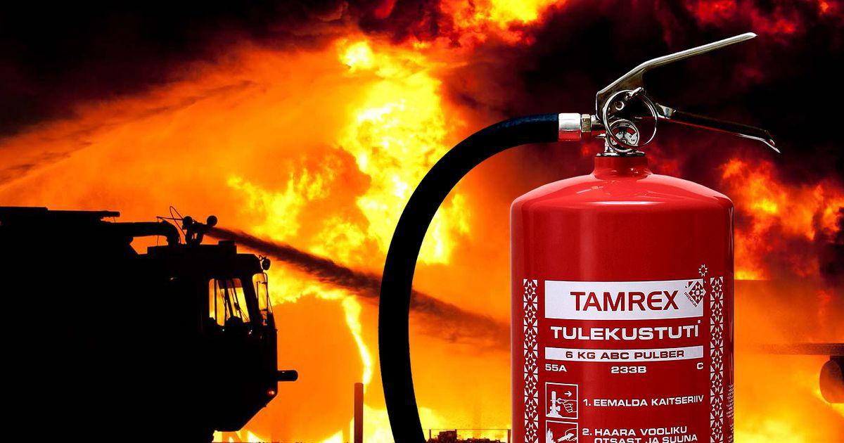 7c0bc02dd1f Ainult toimiv tulekustuti päästab sinu elu ja vara! - Tamrex - Sisuturundus  - Tarbija