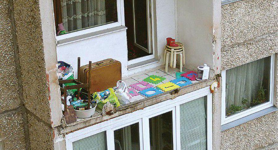 В ласнамяэ упала часть балкона - газета - rus.postimees.ee.