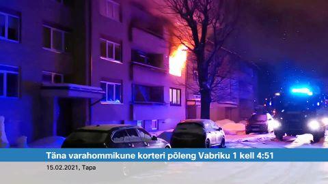 Tapal evakueeriti põlevast korterist kaheksa inimest