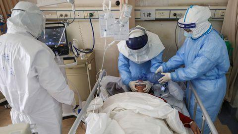 Hiinas Wuhani linna haiglas on nakatunud ka paljud meditsiinitöötajad.