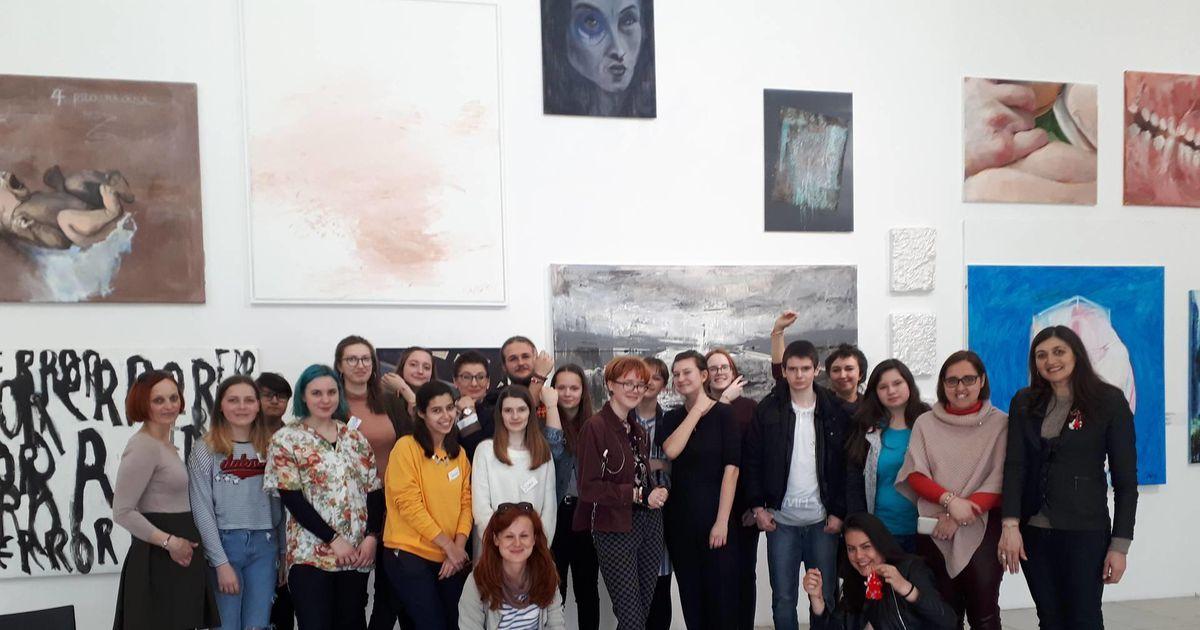 Kunstikooli õpilased vahetasid Euroopa noortega kogemusi