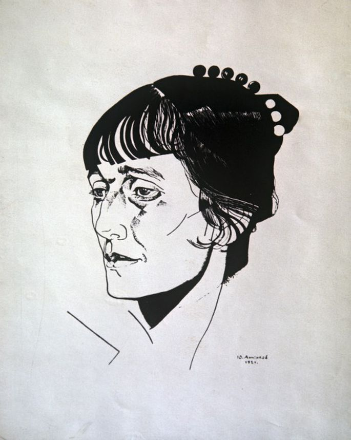 портрет ахматовой картинки