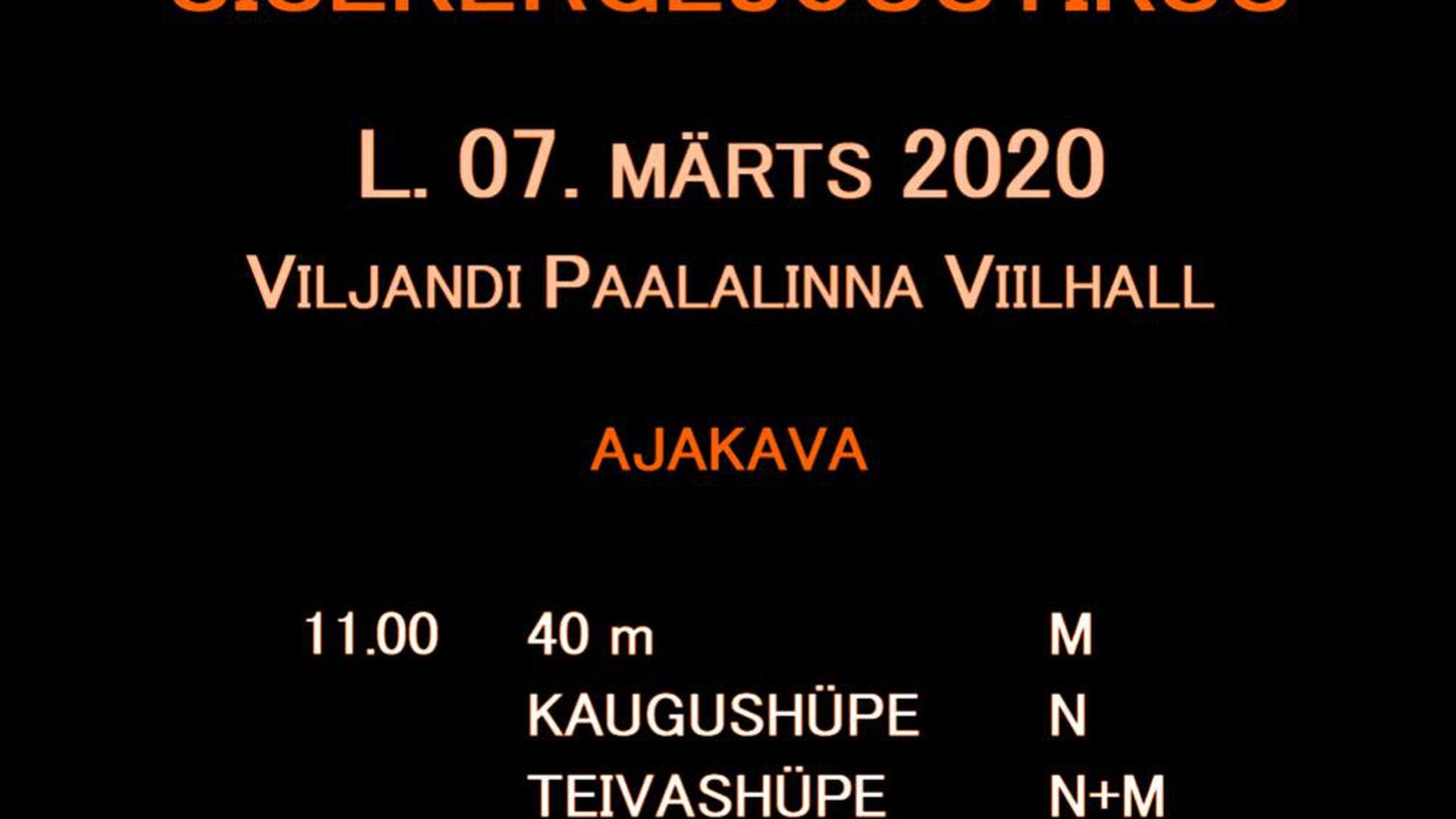 Laupäeval peetakse Viljandimaa sisekergejõustiku meistrivõistlusi