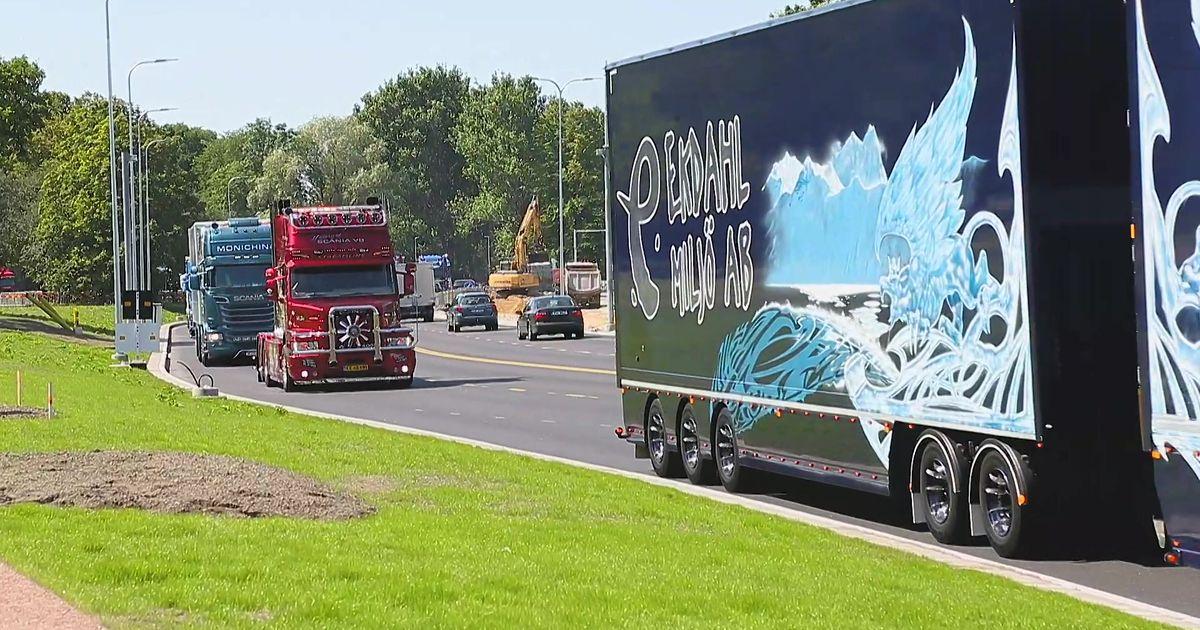 Video: vaata, kuidas tuunitud raskeveokid Tallinna saabusid
